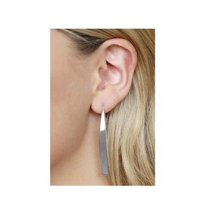 GlitzBlitz Boutique Jewelry - 2/$20! Silver Shiny/Flat/Oblong Threader Earrings